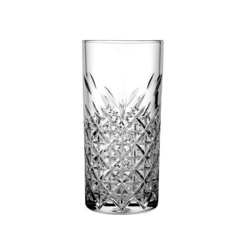 Ποτήρι γυάλινο νερού 300ml σκαλιστό