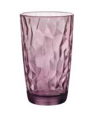 Ποτήρι γυάλινο νερού 470ml Purple Diamond