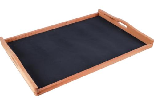 Δίσκος σερβιρίσματος ξύλινος με χέρια παραμάνα