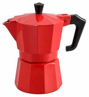 Καφετιερα Μπρίκι Καφέ Espresso Italexpress Κόκκινο 1 Φλιτζάνι Pezzetti χρωματα κοκκινο-λευκο-μαυρο