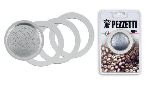 Οι καφετιέρες Pezzetti στη σειρά Italexpress διαθέτουν σετ ανταλλακτικών φλάτζες & φίλτρα Νο1