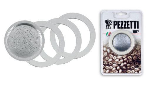 Οι καφετιέρες Pezzetti στη σειρά Italexpress διαθέτουν σετ ανταλλακτικών φλάτζες & φίλτρα Νο2