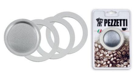 Οι καφετιέρες Pezzetti στη σειρά Italexpress διαθέτουν σετ ανταλλακτικών φλάτζες & φίλτρα Νο6