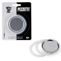 Pezzetti φιλτρο και φλατζες Steelexpress 4 φλυτζανια