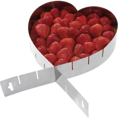 Τσέρκι Ζαχαροπλαστικής Ανοξείδωτο ρυθμιζόμενο σε σχήμα καρδιάς westmark