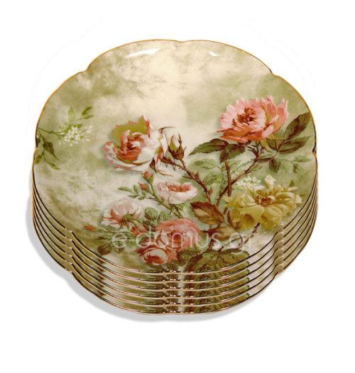 Πορσελάνινα Πιάτα Πάστας Pink Roses GJ337-7K7