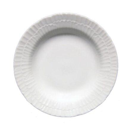 Πιάτο βαθύ λευκή πορσελάνη ανάγλυφο