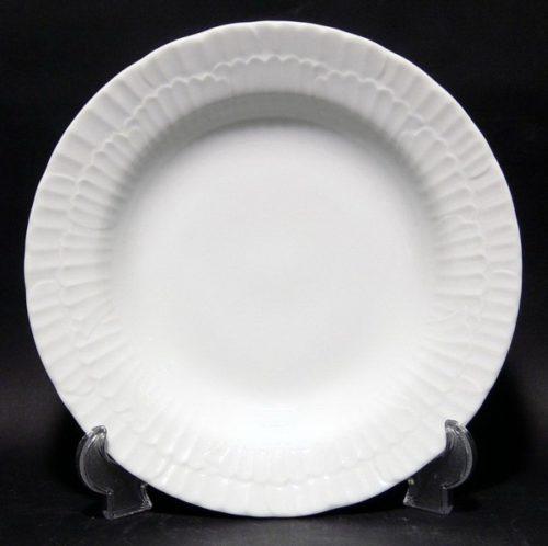 Πιάτο βαθύ λευκή πορσελάνη ανάγλυφο ferelli