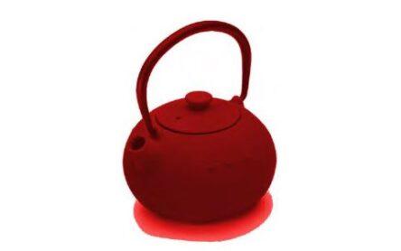 Τσαγιέρα μαντεμένια κόκκινη 0.4 ml 02948
