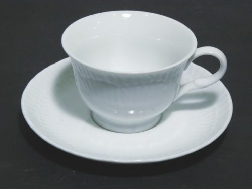 Φλιτζάνι καφέ πορσελάνη ανάγλυφο με πιάτο