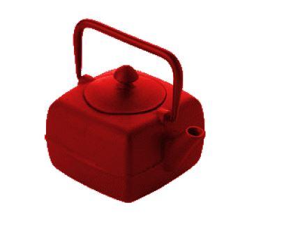 Τσαγιέρα μαντέμι κόκκινη 0.4