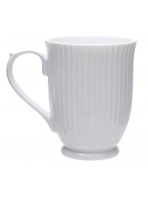 Πορσελάνινη Κούπα Λευκή με Ανάγλυφο Σχέδιο