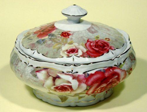 Πορσελάνινη Φοντανιέρα Oriana Ferelli Pink Roses