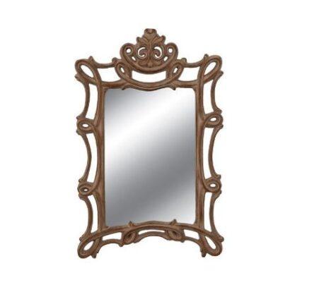 Καθρέφτης τοίχου καφέ σκαλιστός ορθογώνιος