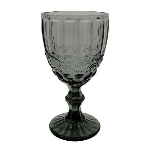 Ποτήρι νερού με πόδι μπλε γκρι