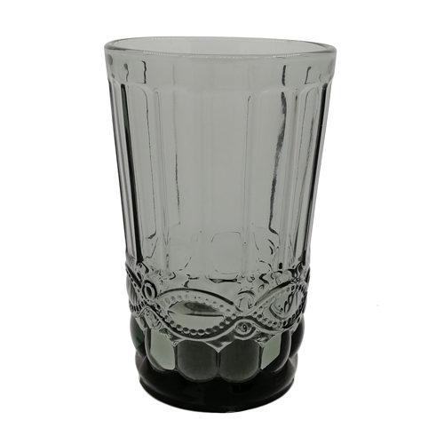 Ποτήρι γυάλινο νερού μπλε γκρι 350ml
