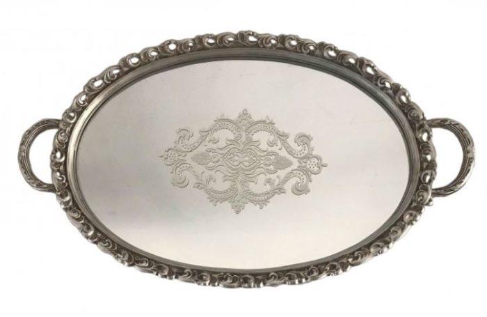 Δίσκος με καθρέφτη γάμου οβάλ