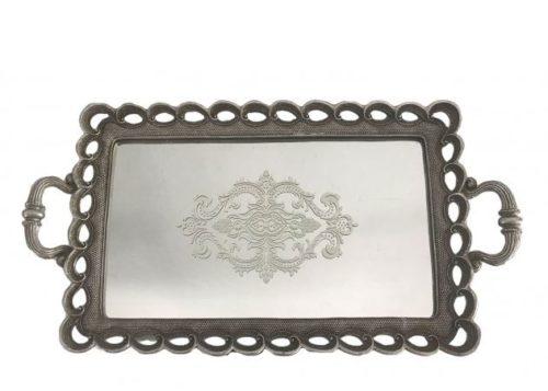 Δίσκος γάμου με καθρέφτη ορθογώνιος