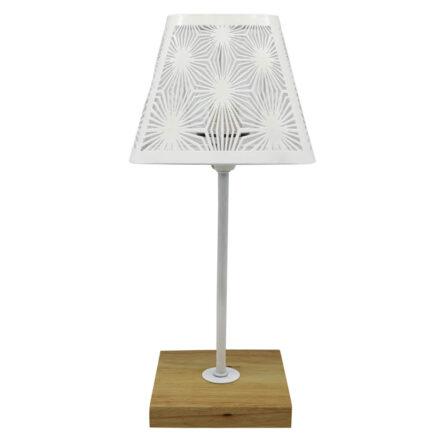 Πορτατίφ επιτραπέζιο μεταλλικό λευκό τετράγωνο