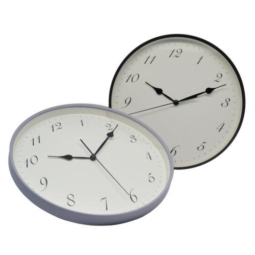 Ρολόι τοίχου πλαστικό μαύρο αθόρυβο