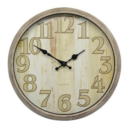 Ρολόι τοίχου πλαστικό μπεζ 31 εκατοστά