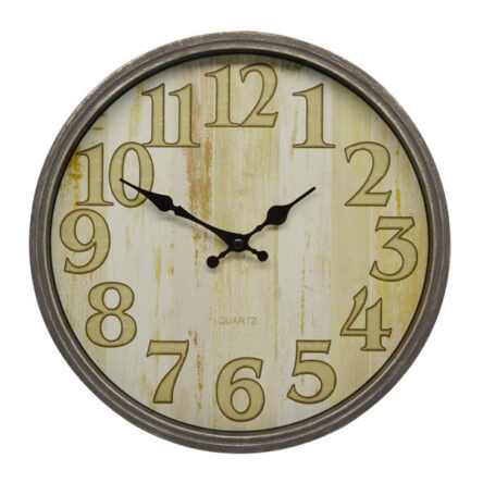 Ρολόι τοίχου πλαστικό γκρι 31 εκατοστά