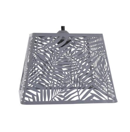 Φωτιστικό κρεμαστό μεταλλικό γκρι τετράγωνο