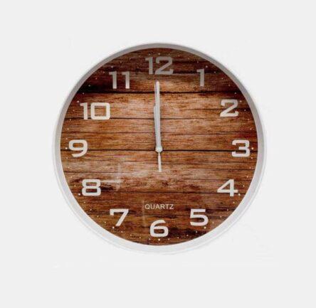 Ρολόι τοίχου πλαστικό καντράν ξύλο