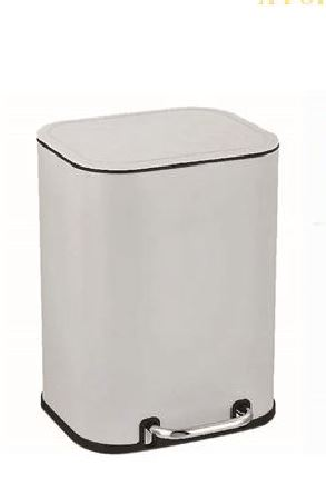 Καλάθι τουαλέτας μεταλλικό λευκό