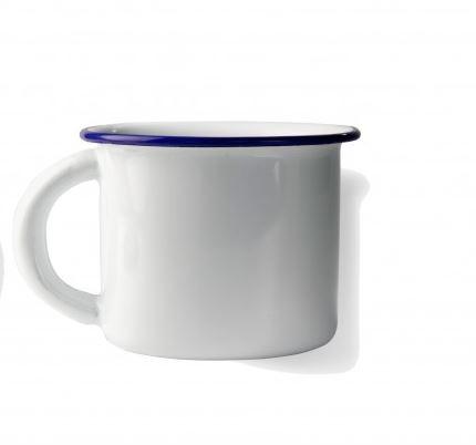 Κύπελλο εμαγιέ λευκό