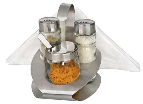 Σετ αλάτι πιπέρι μουστάρδα