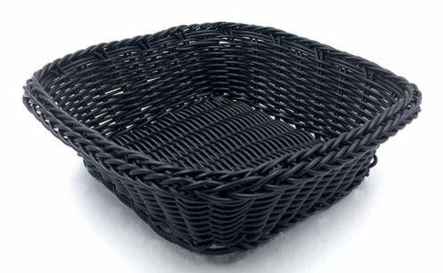 Ψωμιέρα τετράγωνη μαύρη