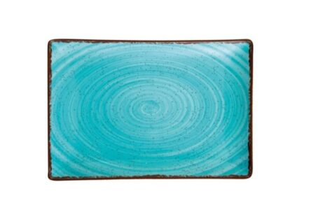 Πιατέλα ορθογώνια γαλάζια