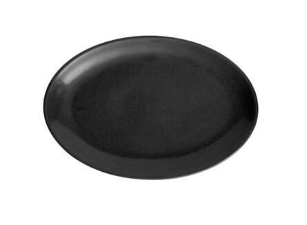 Πιατέλα οβάλ μαύρη