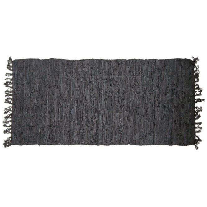 Χαλί τζακιού δερμάτινο άκαυστο μαύρο